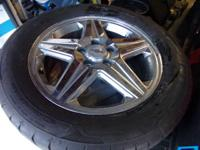 "Set of 4 17"" Chevrolet SS chrome alloy wheels. These"