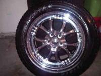 "We are selling our 17"" 5 Lug Chrome Tyfun Wheels"