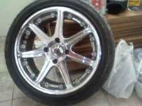 "Used 17"" chrome Konig profit rims and tires $350 firm."
