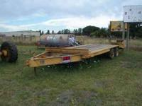 8'wide 17' long double axel trailer  Location: eug