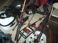 ther are a assortment of rod and reels Location: