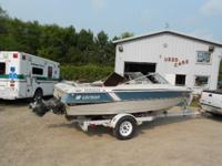 1985 17 Foot open Bow Runabout with Shore Landr
