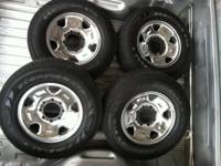 "Four 17"" wheels & tires will fit Ford F250. Tires very"