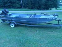 17 ft flat bottom boat with a 500 Mercury 50 horse