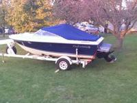 This is a 1986 17 foot four winns bow rider, with a 140