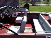 nice running boat 112 spl Johnson outboard which is a