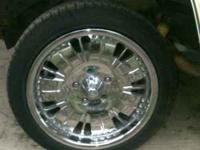 "I HAVE A SET OF 17"" CHROME FULL SIZE CHEVY RIMS I AM"