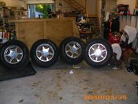 "i have 4 mint 17"" denali rims with general grabber stx"