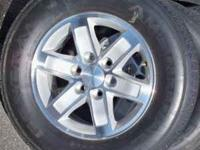 "this is a new take off set of 17"" wheels and tires with"