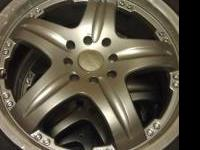 "I have a set of used 17"" icw rims. Gunmetal in color w/"