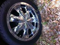 17 INCH RIMS (5 LUG) WITH TIRES, MAY NEED ONE TIRE.