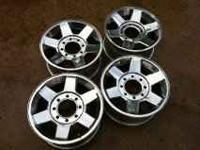 17 inch stock Dodge chrome 8 lug wheels. good