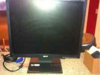 17 inch Acer monitor flat screen for $74.99 obo. This