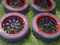 i got 17 inch rims black with red lip for sale 450 or