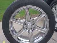 17 inch chrome universal rims Tires included with lots