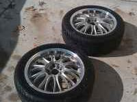 This is for 2 Konig aluminum unlig wheel and tires.