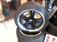 Black wheels and nixen tires 215 /45 /17 call