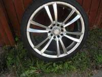 "4 17"" rims and 3 tires, low profile... Location:"
