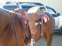 "17"" McGuire Cutter Saddle, in good condition! This is a"