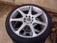 These wheels and tires came off a Honda crx. One of the
