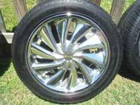 Description TIRES ARE BRAND NEW AND RIMS ARE IN GOOD