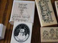 this listing is for a set of 17 rubber stamps...all in
