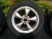 "17"" Mustang Bullitts Silver,complete set with no center"