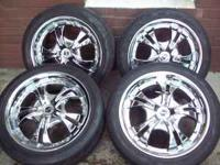 I have a set of Four (4) chrome SSC wheels with tires.