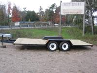For sale a handmade new 17' by 8' steel Trailer