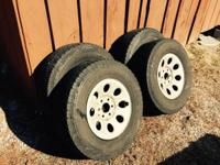 "Set of 4 17"" stock Chevy rims with Toyo Open Country"