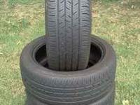 4-Continental Contitouring Contact 225/50/R17 50% tread