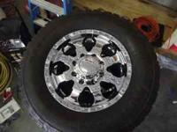 Have a nice set of 4 17 x 9 Goliath Wheel and set of