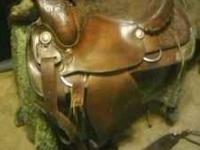 "Want to sell asap, Mens 17""TEXTAN HEREFORDS saddle with"