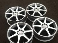 "For sell is a set of 17"" rims, they are 8"" large. Bolt"