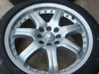 """17"""" WHEELS AND TIRES.TIRES ARE FIRESTONE 215-50-17."""