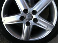 "17"" audi wheels with tires. 235/45Z/R17 they are 5 lug"