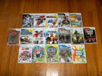 have 17 wii games in excellent condition. games are
