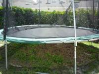 17'x15' Peak Oval Trampoline and Enclosure - Asking