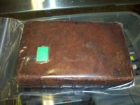 Extremely old natural leather bound book available.