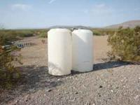 Two 175 gl. water storage tanks. Have been used for