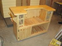 Custom built Mini bar cart, made from real solid knotty