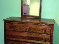 Very cool retro 1960s boys dresser and matching mirror.