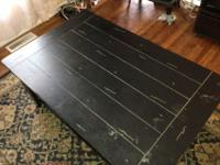 "Large coffee table for sale. Measures 50"" x 32"" with a"