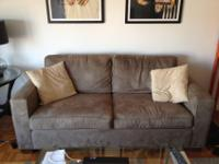 Very comfortable couch with 2 large cushions, big