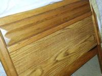 Single Mattress with box spring and solid wood