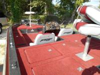17' Bass Boat, w/ 150 Mercury oil injected engine, has