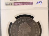1795 Flowing Hair Half Dollar NGC Fine Details, Edge