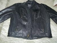 Leather Biker Jacket with YKK zippers.. Size 48 No