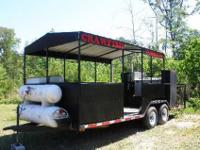 A 20ft Crawfish boiling trailer and Turkey fry trailer.