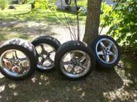 "17"" Cobra Chrome Rims, in great shape but need center"